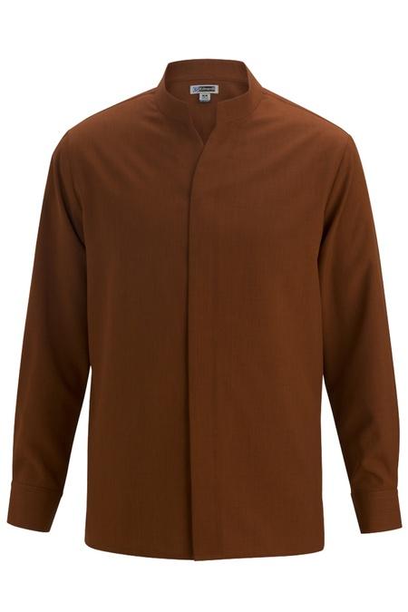 Mens Stand-Up Collar Shirt 1398