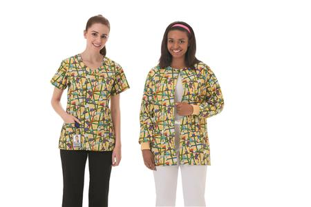 Fundamentals Ladies Overlap V-Neck Print Top 14374