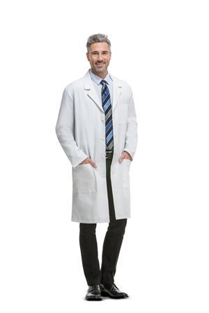 """40"""" Unisex Lab Coat 1446"""