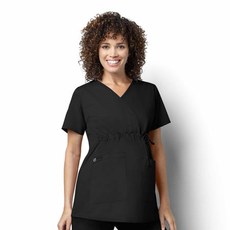 WonderWink WonderWORK - Maternity Mock Wrap Top Extended - 145X