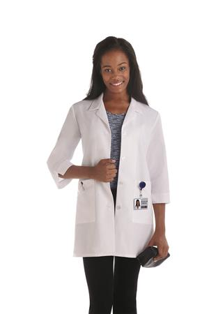 "Meta Fundamentals 33"" 3/4 Sleeve Ladies Labcoat 15012"