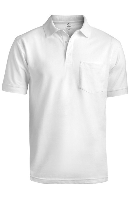 Blended Pique Short Sleeve Polo With Pocket 1505
