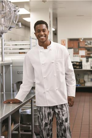 Five Star Unisex Knot Button Chef Coat 18016
