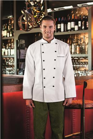 Five Star Executive Chef Jacket with Black Trim 18120