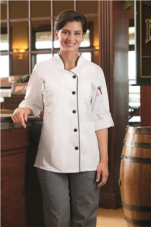 Five Star Ladies Long Sleeve Stretch Executive Chef Coat 18504