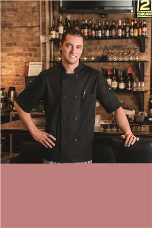 Five Star Unisex Short Sleeve Stretch Executive Chef Coat 18516