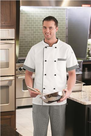 Five Star Unisex Short Sleeve Executive Chef Coat 18529
