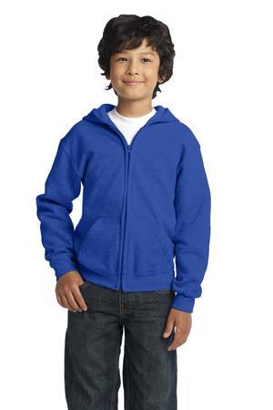 Gildan Youth Heavy Blend Full-Zip Hooded Sweatshirt. 18600B