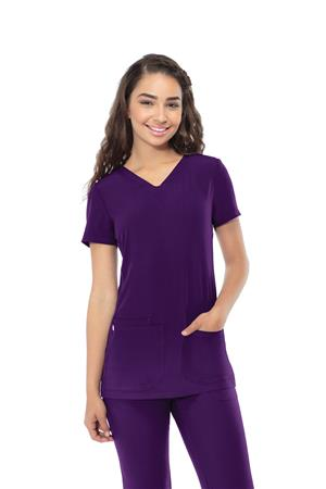 Pitter-Pat Shaped V-Neck Top 20710