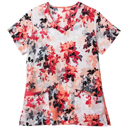 Jockey® Scrubs Ladies Print Mock Wrap Top 2366
