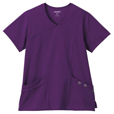 Jockey® Scrubs Ladies Asymmetrical Grommet Top 2367