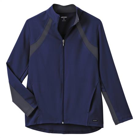 Jockey® Scrubs Ladies Athletic Contrast Warm Up Jacket 2370