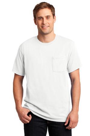 JERZEES -  Dri-Power 50/50 Cotton/Poly Pocket T-Shirt.  29MP
