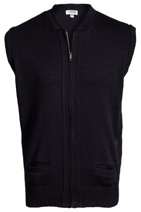 Full-Zip Heavyweight Acrylic Sweater Vest 302