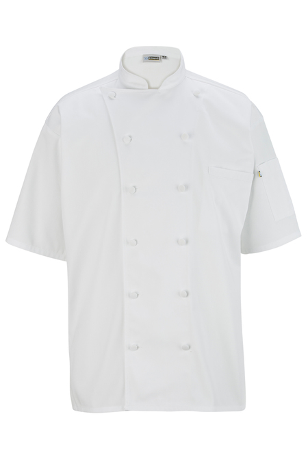 12 Button Short Sleeve Chef Coat With Mesh 3331