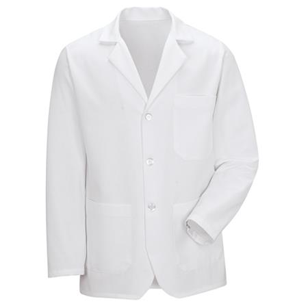 Notch Collar Lapel Counter Coat 4010WH