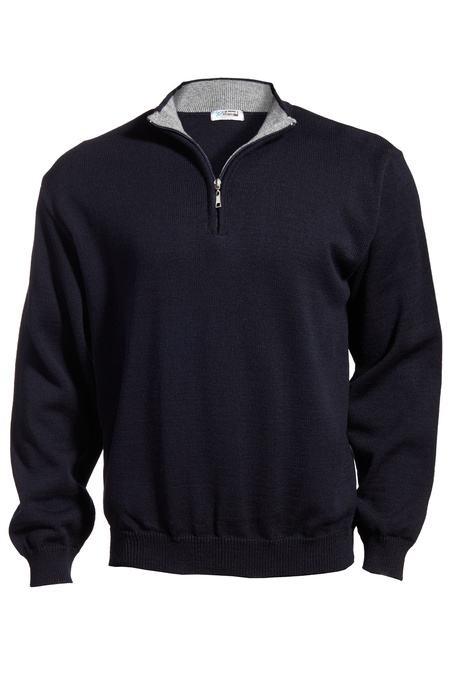 Edwards Quarter-Zip Acrylic Sweater 4012