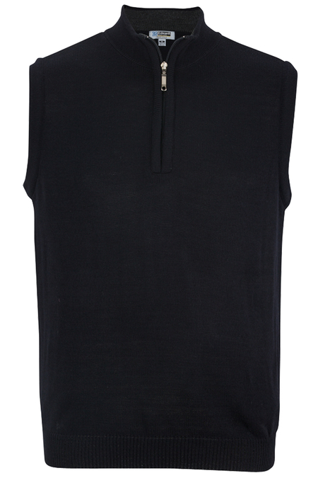 Edwards Quarter-Zip Acrylic Sweater Vest 4052