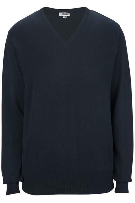 Edwards V-Neck Cotton Blend Sweater 4090