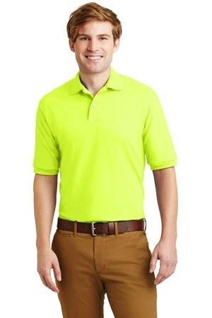JERZEES - SpotShield 5.6-Ounce Jersey Knit Sport Shirt. 437M