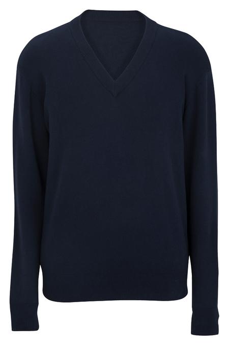 Edwards V-Neck Cotton Sweater 4700
