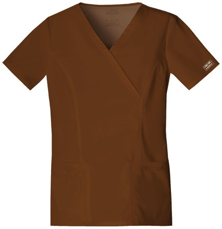Cherokee Workwear Mock Wrap Top 4728