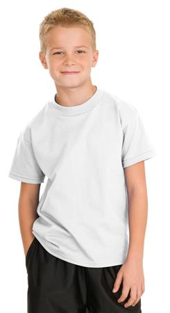 Hanes - Youth Tagless 100% Cotton T-Shirt.5450