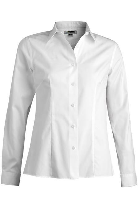 Edwards Ladies' Oxford Wrinkle-Free Long Sleeve Blouse 5978