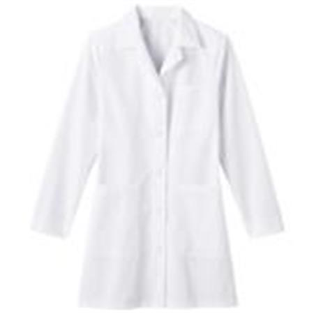 "Meta Ladies 35"" Mid Length Labcoat 6150"