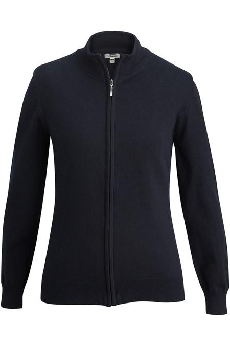 Ladies' Full-Zip Fine Gauge Cardigan Sweater 7064