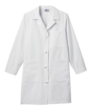 "Meta Ladies 38"" Cotton Knot Button iPad Labcoat 763"