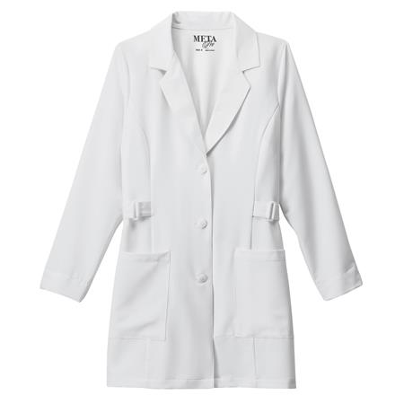 "Meta Pro Ladies 32"" Buckle Belt Tri-Blend Stretch Labcoat 883"