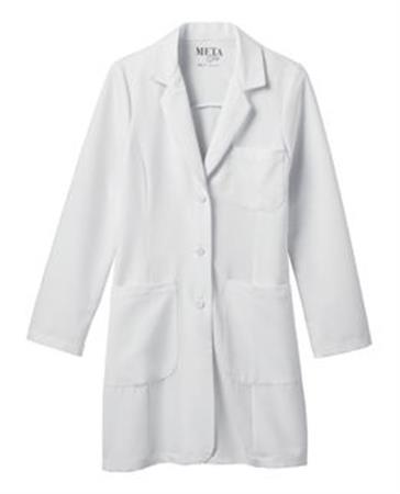 "Meta Pro 35"" Ladies Tri-Blend Stretch Labcoat 885"