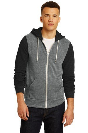 Alternative Colorblock Rocky Eco -Fleece Zip Hoodie. AA32023