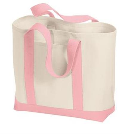 Port and Company - 2-Tone Shopping Tote. B400