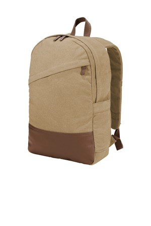 Port Authority  Cotton Canvas Backpack. BG210