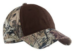 Port Authority - Camo Cap with Contrast Front Panel. C807