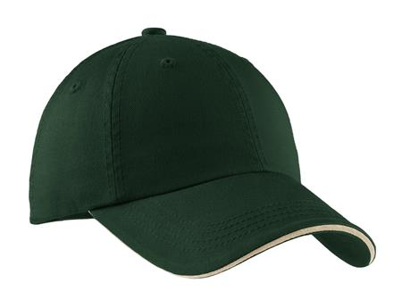 Port Authority - Sandwich Bill Cap with Striped Closure. C830