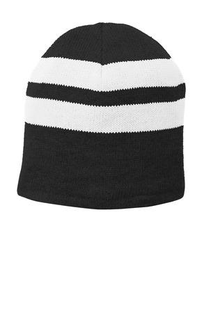 Port & Company Fleece-Lined Striped Beanie Cap. C922