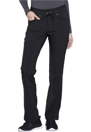 Mid Rise Tapered Leg Drawstring Pants CK010