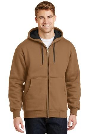 CornerStone - Heavyweight Full-Zip Hooded Sweatshirt with Thermal Lining.  CS620