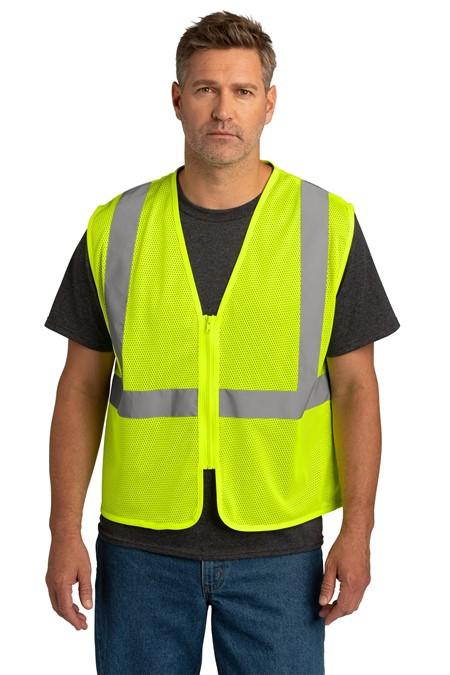 CornerStone  ANSI 107 Class 2 Economy Mesh Zippered Vest. CSV101