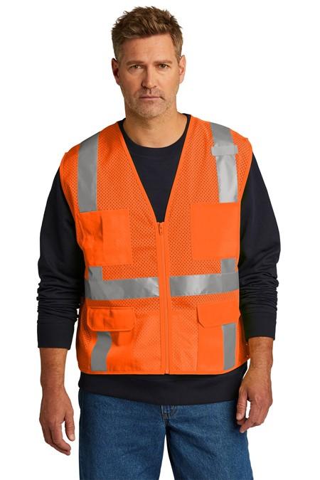 CornerStone  ANSI 107 Class 2 Mesh Six-Pocket Zippered Vest. CSV104