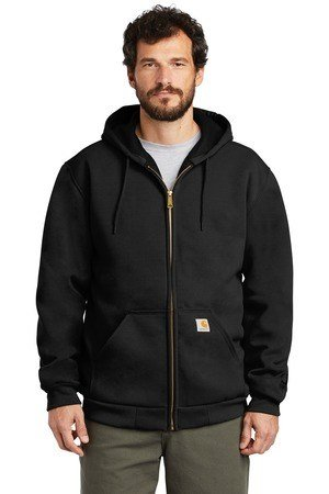 Carhartt  Rain Defender  Rutland Thermal-Lined Hooded Zip-Front Sweatshirt. CT100632