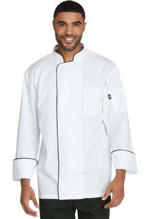 Unisex Cool Breeze Chef Coat with Piping DC411