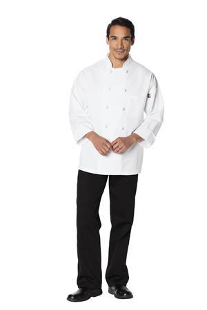Unisex Classic Knot Button Chef Coat DC43