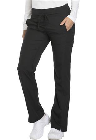 Mid Rise Straight Leg Drawstring Pant