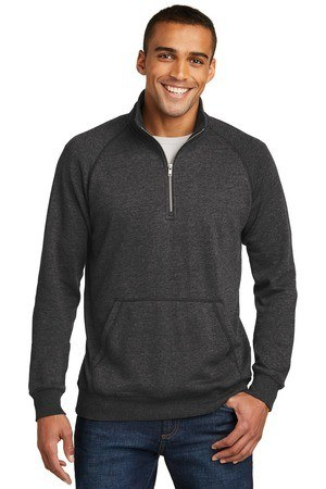 District Made  Mens Lightweight Fleece 1/4-Zip. DM392