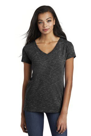 District  Womens Medal V-Neck Tee. DT664