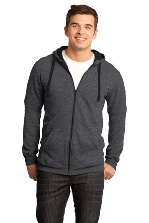 District - Young Mens Concert Fleece Full-Zip Hoodie. DT800